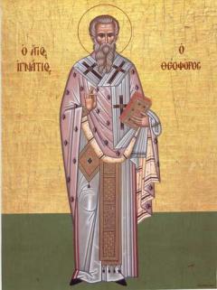 Sfântul Ignatie Teoforul, copilul purtat în braţe de Hristos
