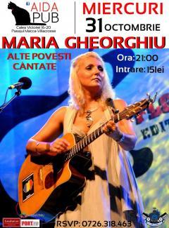 """Maria Gheorghiu, la Aida Pub cu """"Alte povesti cantate"""""""
