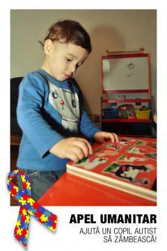 Ajută un copil autist să zâmbească! Ajută-l pe Mihnea!