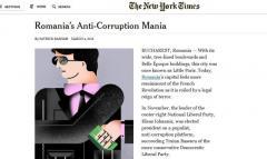 New York Times:  Mania anticorupţie a României