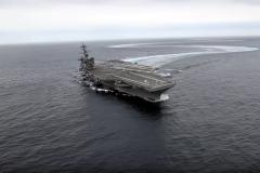 VIDEO - Manevrele impresionante pe care le face portavionul american USS Abraham Lincoln
