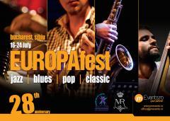 EUROPAfest 28 – jazz & clasic  În iulie concerte cu artiști din 20 de țări