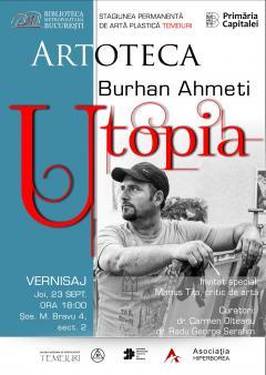 utopia expozitie inedita de pictura semnata burhan ahmeti la artoteca bibliotecii metropolitane bucuresti 18760787