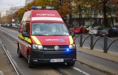 Imagini dramatice în fața Spitalului Floreasca: Zeci de ambulanțe așteaptă să lase pacienții