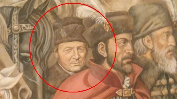 """""""Boierul"""" Băsescu, pictat pe pereţii Ministerului Apărării (VIDEO)"""
