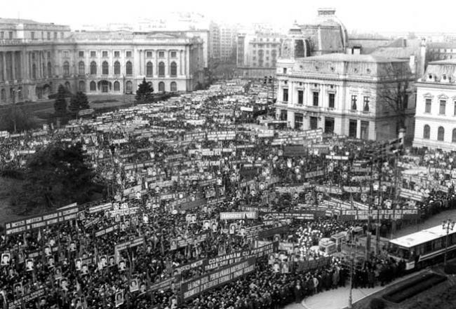 Imagini pentru revolutia romana 21 decembrie sustinere