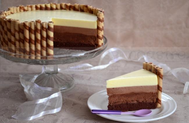 RE  ETE DE ANUL NOU  Tort Cu 3 Feluri De Ciocolat