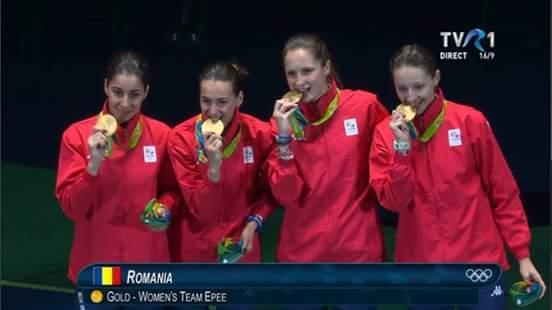 OLIMPIADĂ. Scrimă: Echipa feminină de spadă a României, medaliată cu aur la Rio