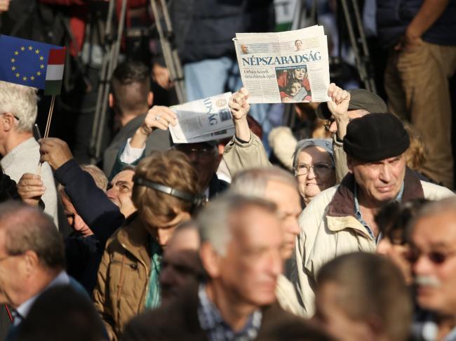 Ungaria: Mii de persoane au manifestat la Budapesta pentru libertatea presei