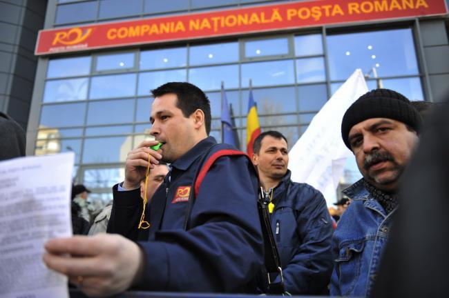Protest spontan al poştaşilor din Bucureşti şi din ţară