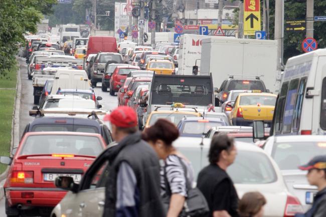 Jumătate din București este paralizat. Traficul este blocat în jumătatea de nord a Capitalei