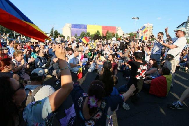 piata-victoriei-blocata-de-protestatari