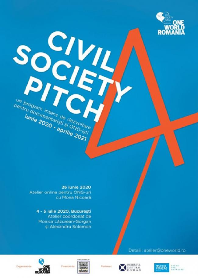 Se dă startul la CIVIL SOCIETY PITCH, ediția a 4-a!