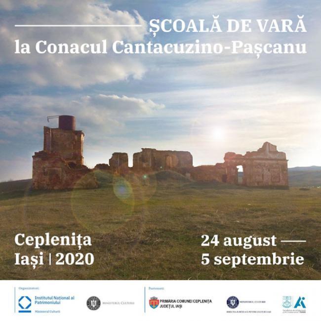 Deschidem înscrierile pentru Școala de vară de la Conacul Cantacuzino-Pașcanu, Ceplenița, Iași (23 august – 9 septembrie 2020)