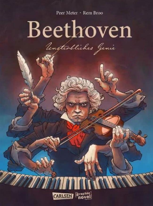 "Romanul grafic ""Beethoven, geniu nemuritor"", ilustrat de Remus Brezeanu, lansat online de ICR Berlin"
