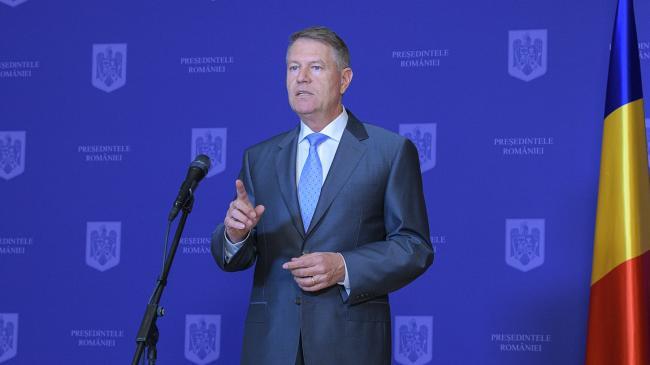 Președintele Klaus Iohannis va susține o declarație de presă la ora 18.00