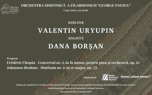 """Pianista Dana Borșan readuce muzica lui Chopin în stagiunea online a Filarmonicii """"George Enescu"""""""