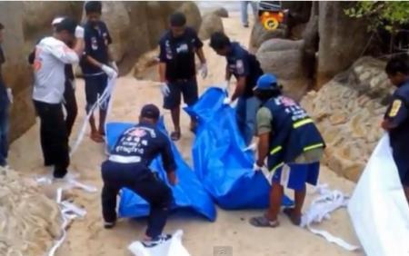 VIDEO. Descoperire înfiorătoare pe o plajă din Thailanda, la nici o sută de metri de o mega petrecere