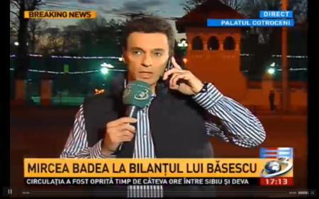 """VIDEO. Mircea Badea nu a fost lasat sa intre in Palatul Cotroceni! """"Oricat de mult ar incerca nu scapa neintrebat asta seara!"""""""