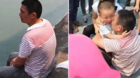 SCENĂ DRAMATICĂ în China! Un băieţel de 2 ani îşi convinge tatăl să nu se arunce de pe pod (VIDEO)