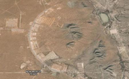 APARIŢIE MISTERIOASĂ în New Mexico. Ce au surprins sateliţii Google Maps în apropiere de El Paso (VIDEO)