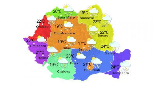 Prognoza meteo 22 iunie. Cer variabil şi vreme răcoroasă