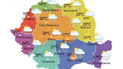Prognoza meteo, 25 iunie 2015. Vreme instabilă