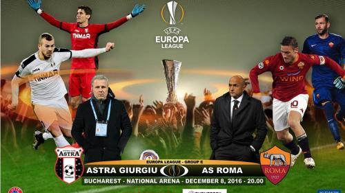 EUROPA LEAGUE. Astra Giurgiu - AS Roma, echipe probabile