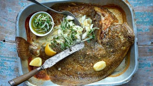 """Calcan gătit """"pescărește"""" (rețetă de la Marea Neagră)"""
