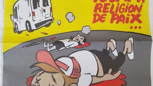 Coperta Charlie Hebdo, după atentatele din Spania: Islamul, religie a păcii... veşnice