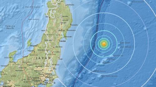 Cutremur cu magnitudinea de 6,1 grade s-a produs pe coasta de est a Japoniei (USGS)