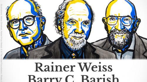 PREMIUL NOBEL 2017 pentru Fizică, atribuit cercetătorilor Rainer Weiss, Barry C. Barish şi Kip S Thorne