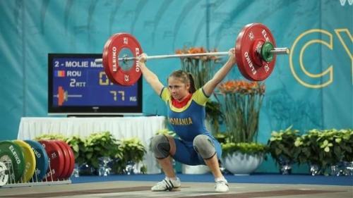 Haltere: Mădălina Molie a cucerit două medalii de aur şi una de argint, la Europenele Under-23