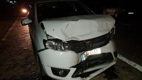 Un șofer beat și-a făcut praf mașina pe DN7, în Dâmbovița
