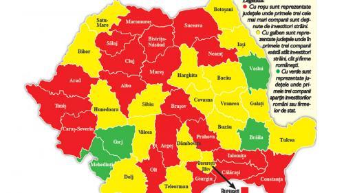 Harta economică: Județele unde investitorii străini fac legea