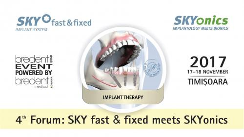 A-IV-a ediţie a SKY Fast&Fixed Forum, Timişoara 2017. Peste 500 de stomatologi dezbat cele mai noi descoperiri în implantologie