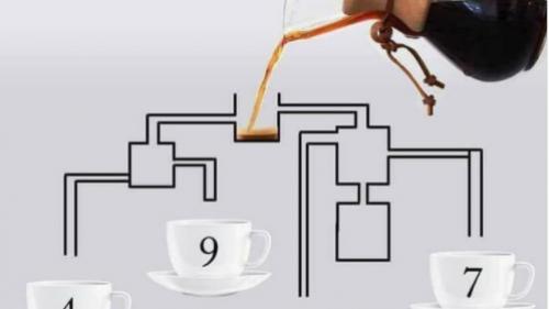 Test de inteligență! Care ceașcă de cafea se umple prima dată? Puțini sunt cei care au găsit soluția corectă!