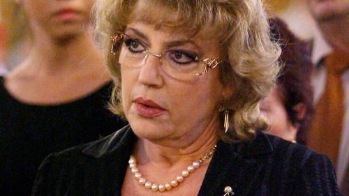 Corina Chiriac, în lacrimi la catafalcul Stelei Popescu