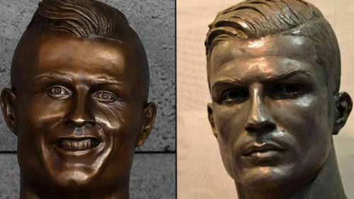 Cristiano Ronaldo la muzeu, cu un bust care acum chiar seamănă cu el