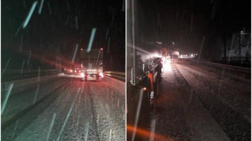 Circulatia pe Valea Oltului este complet blocată din cauza poleiului şi zăpezii