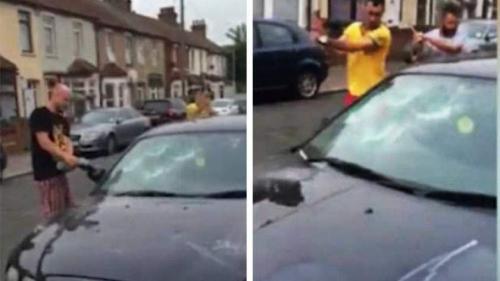 Trei români din Londra au distrus un autoturism cu un flex şi cu bâte de baseball pentru că şoferul a parcat pe locul lor