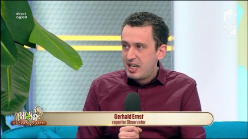 Gerhald Ernst, reporter Observator,  despre țepele online