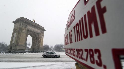GALERIE FOTO - Primăvară înghețată în București