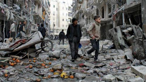 Cel puţin 29 de civili au fost ucişi de o rachetă trasă de rebeli la periferia Damascului