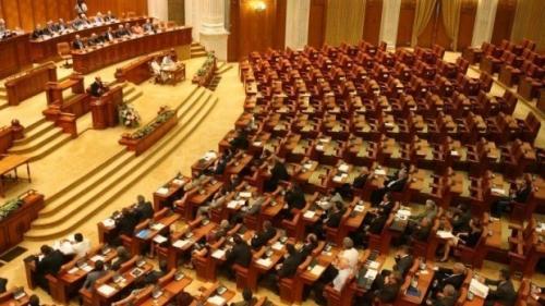 Protest în Parlament pe legile justiţiei