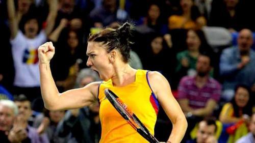 Simona Halep aduce primul punct României în întâlnirea cu Elveţia
