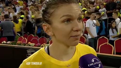 Simona Halep aduce calificarea României în Grupa Mondială
