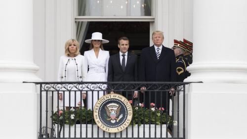 VIDEO - Momente bizare între Donald Trump și Emmanuel Macron