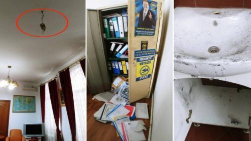 Sediul central al Partidului România Mare a fost călcat de hoți