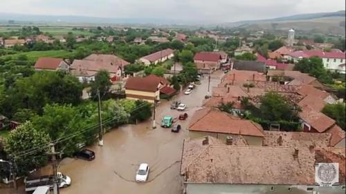 Viiturile au făcut dezastru în Alba